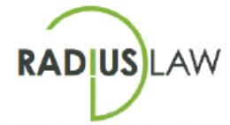 Radius law logo